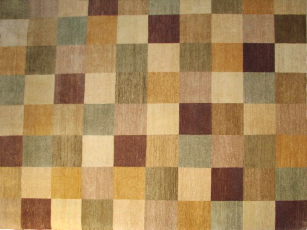 8x10 Contemporary Hand Knotted Wool Area Rug - MR4314