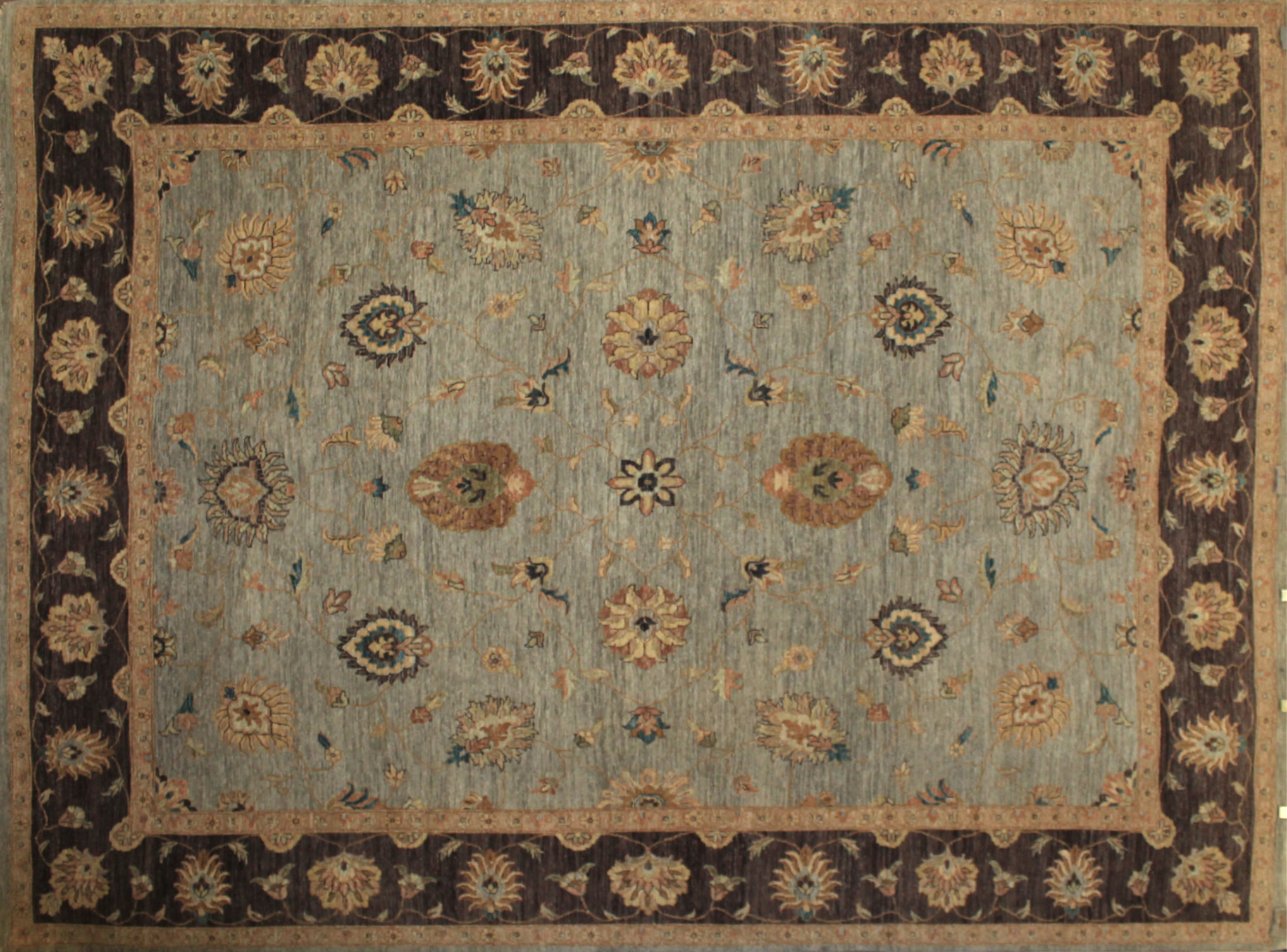 9x12 Traditional Hand Knotted Wool Area Rug - MR5263