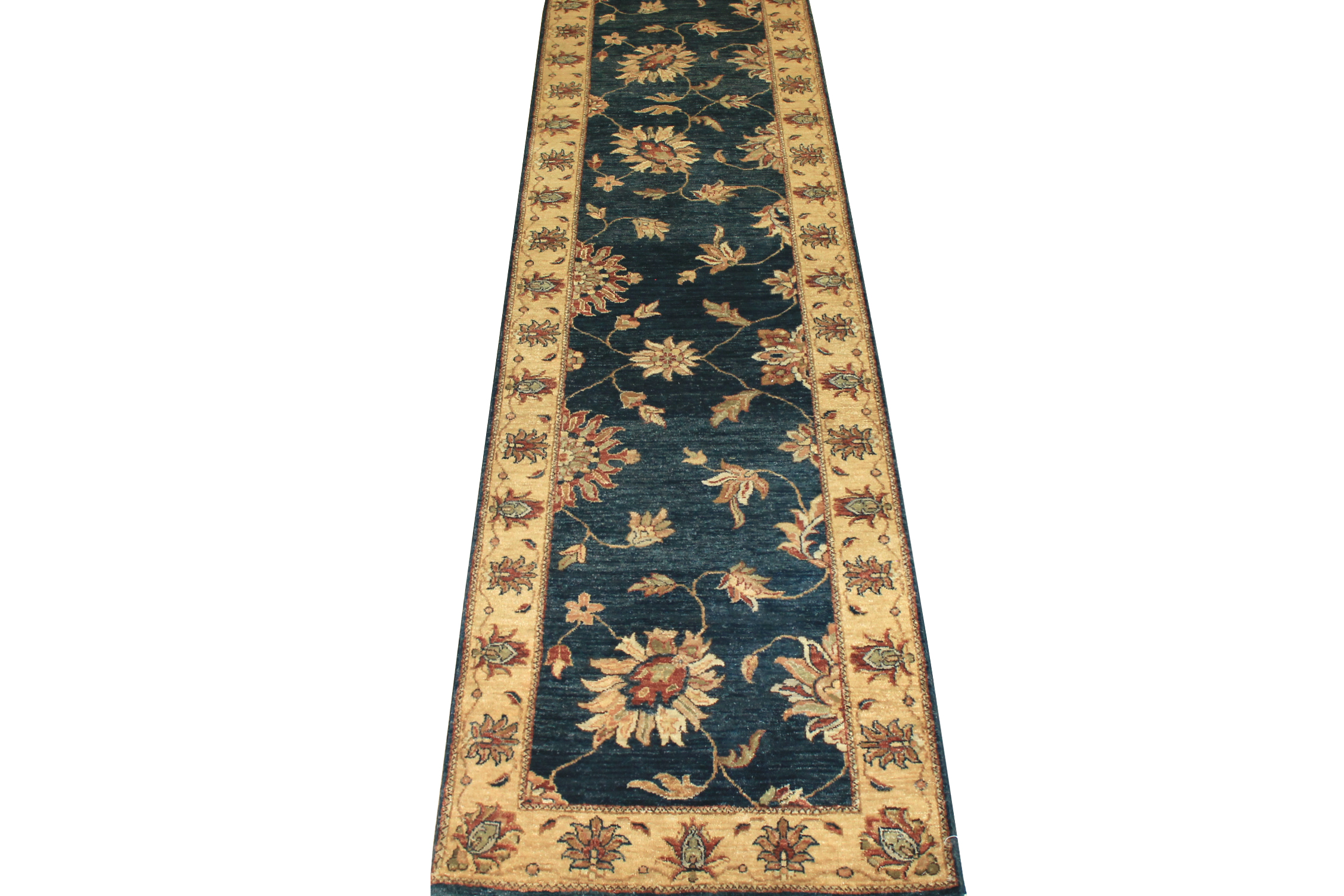 13 ft. & Longer Runner Traditional Hand Knotted Wool Area Rug - MR5557