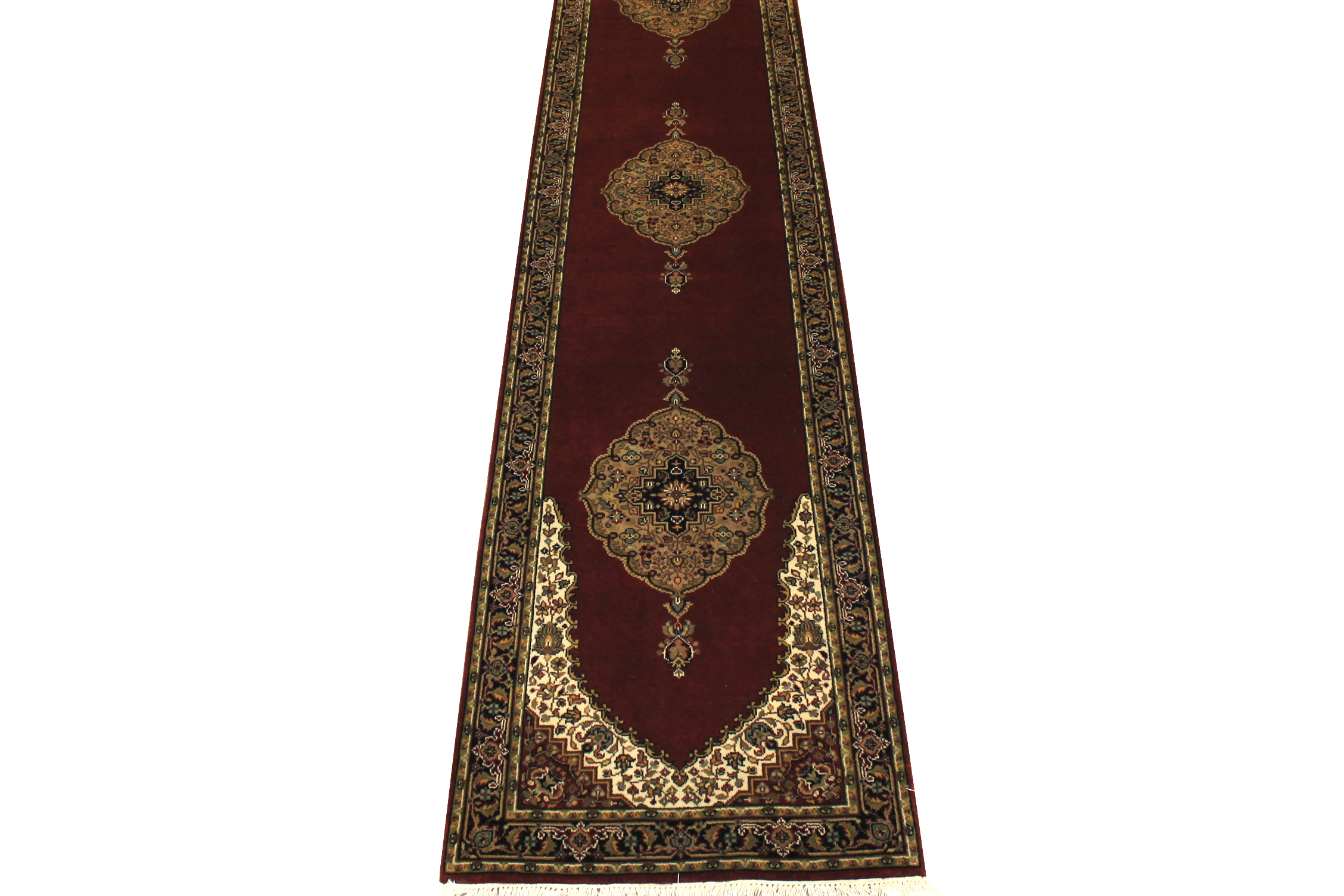 12 Runner Jaipur Hand Knotted Wool Area Rug - MR5762