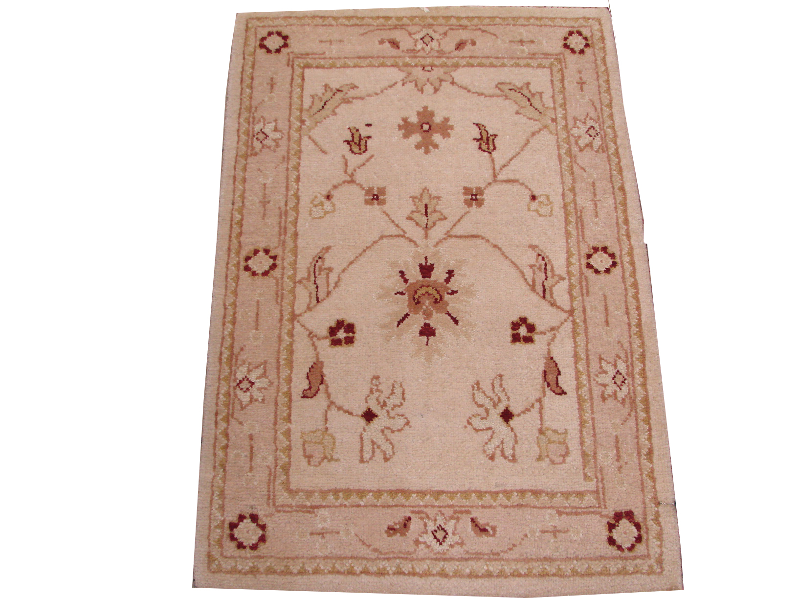 2X3 Oushak Hand Knotted Wool Area Rug - MR6312
