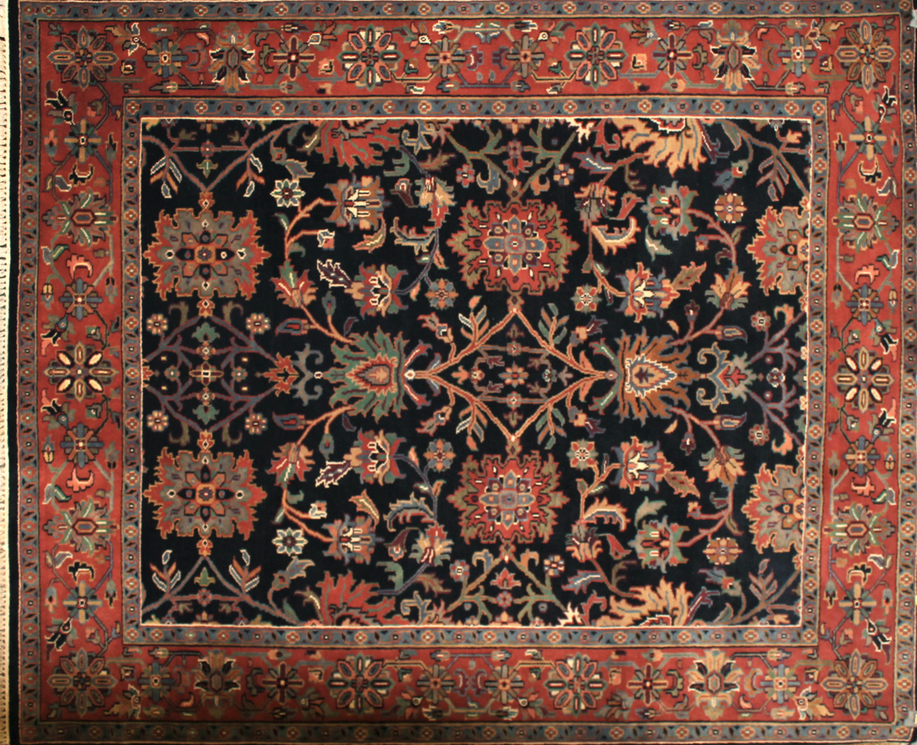 8x10 Traditional Hand Knotted Wool Area Rug - MR7510