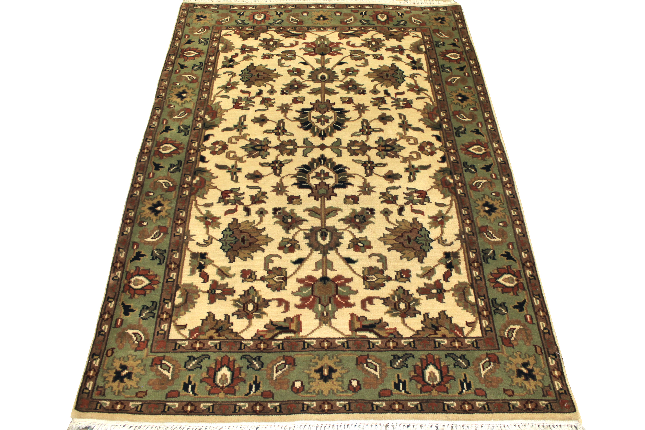 4x6 Traditional Hand Knotted Wool Area Rug - MR7524