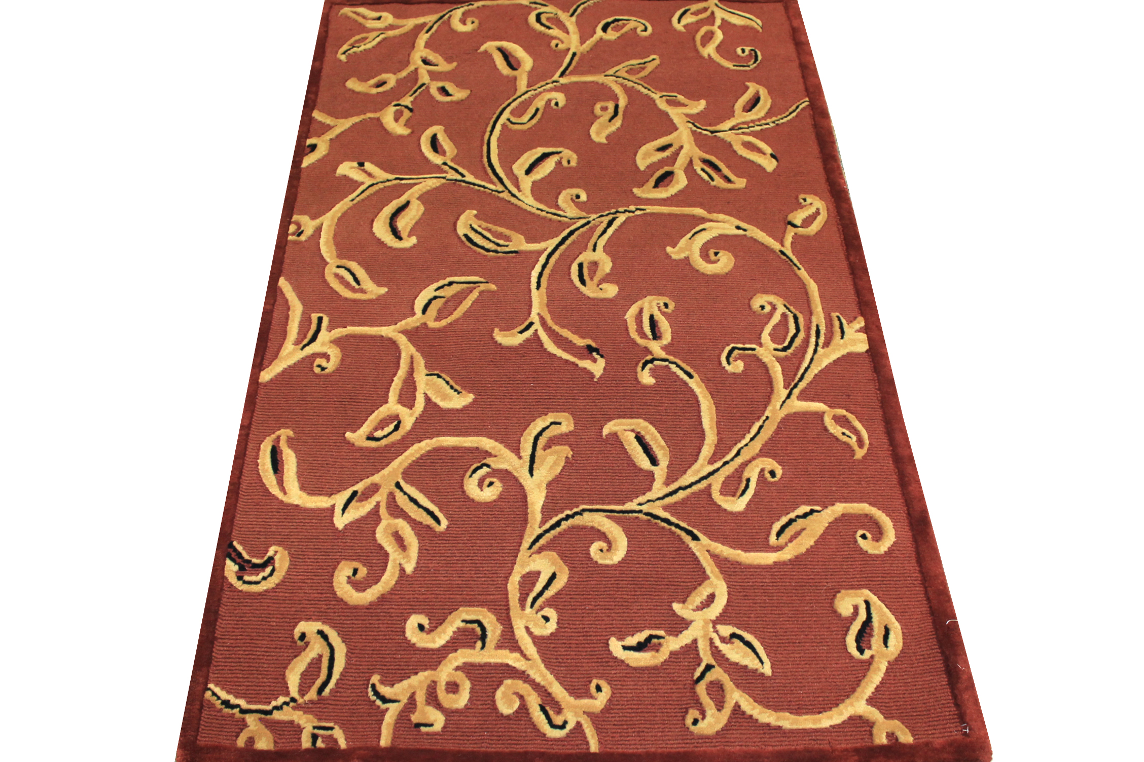 4x6 Contemporary Hand Knotted Wool Area Rug - MR7528