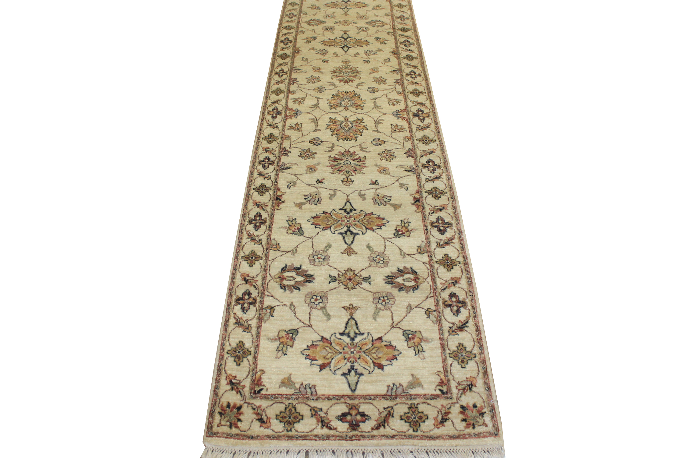 10 ft. Runner Traditional Hand Knotted Wool Area Rug - MR7932