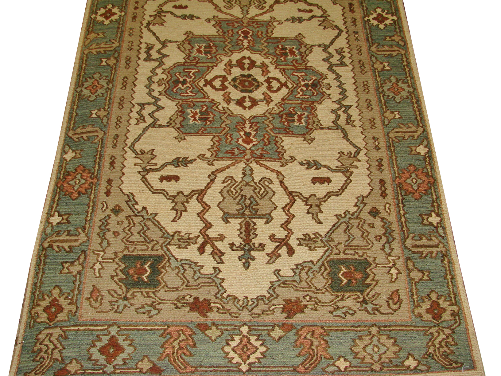 3x5 Flat Weave Hand Knotted Wool Area Rug - MR8214