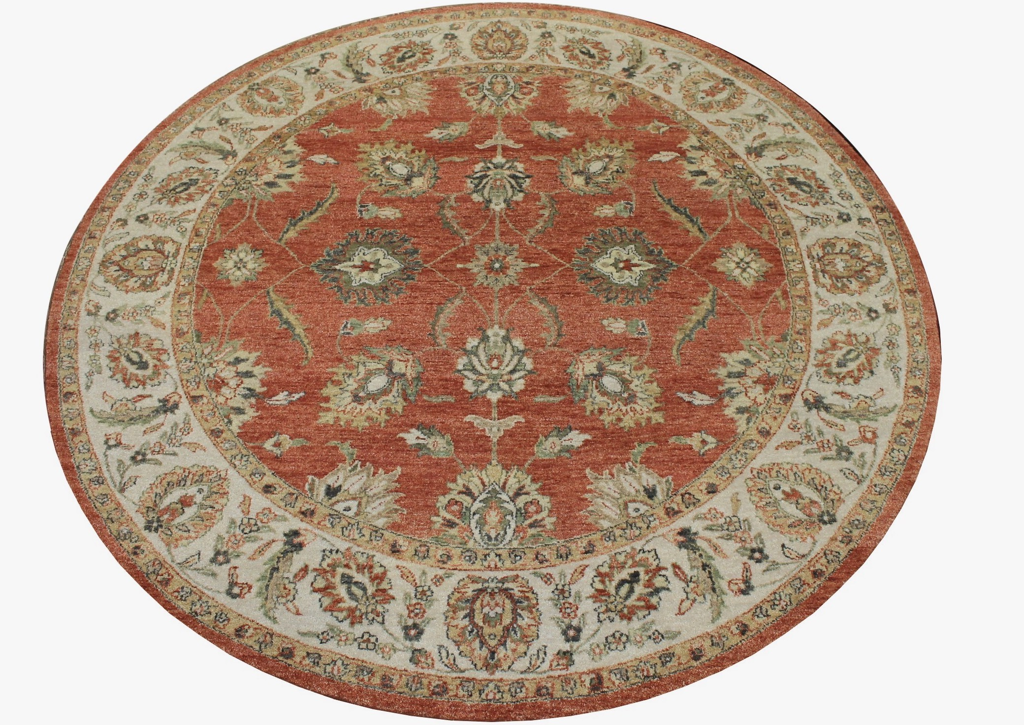 8 ft. Round & Square Traditional Hand Knotted Wool Area Rug - MR8232