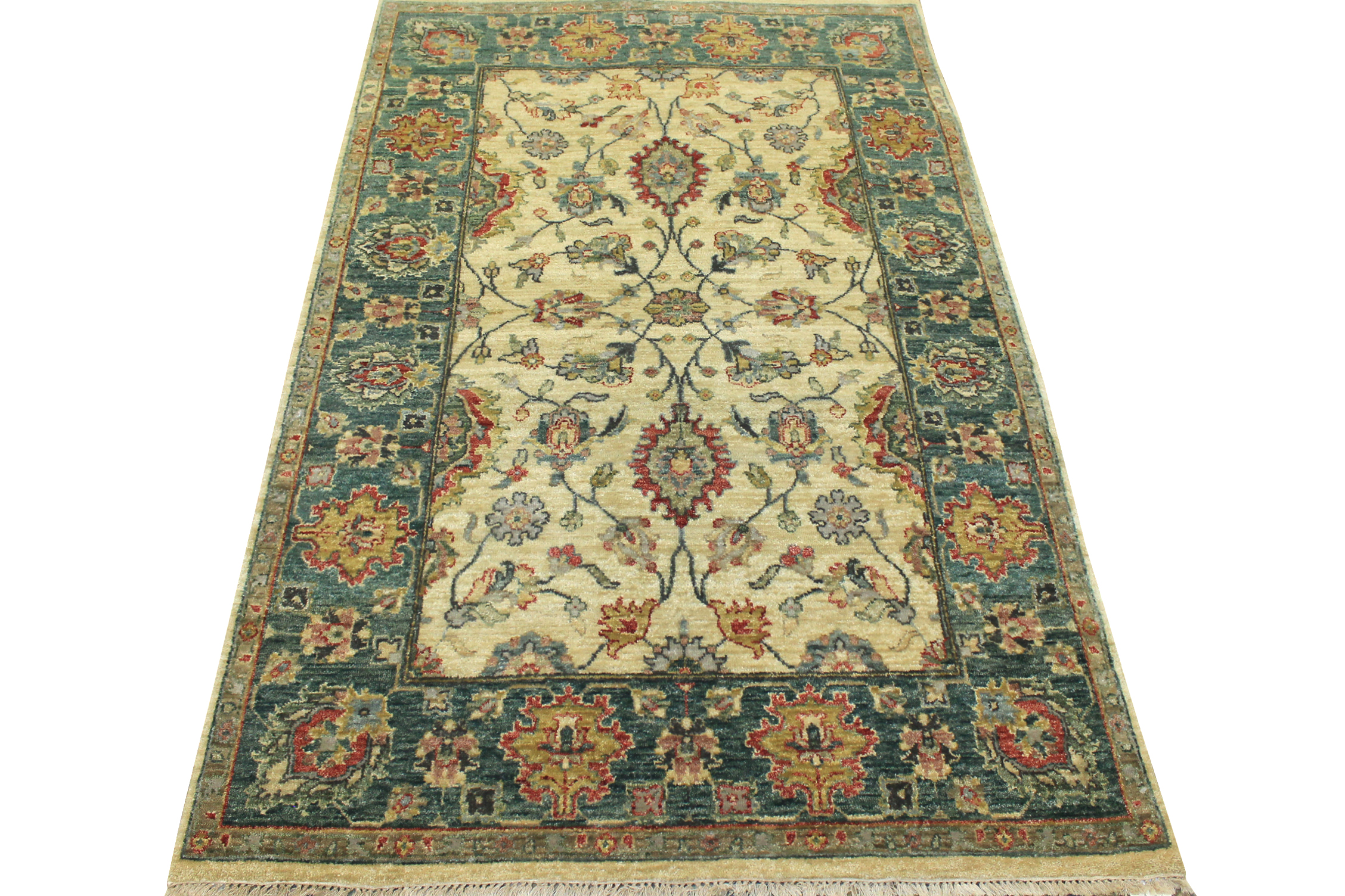 4x6 Traditional Hand Knotted Wool Area Rug - MR8427