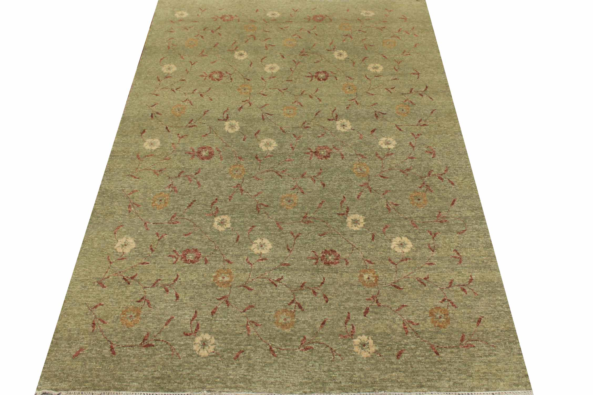 5x7/8 Contemporary Hand Knotted Wool Area Rug - MR8438