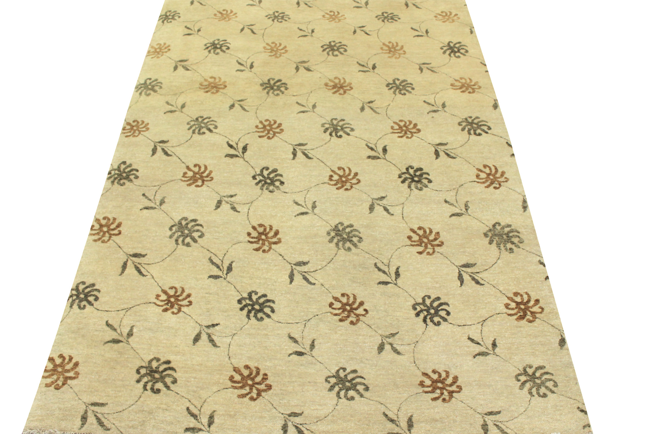 6x9 Traditional Hand Knotted Wool Area Rug - MR8439