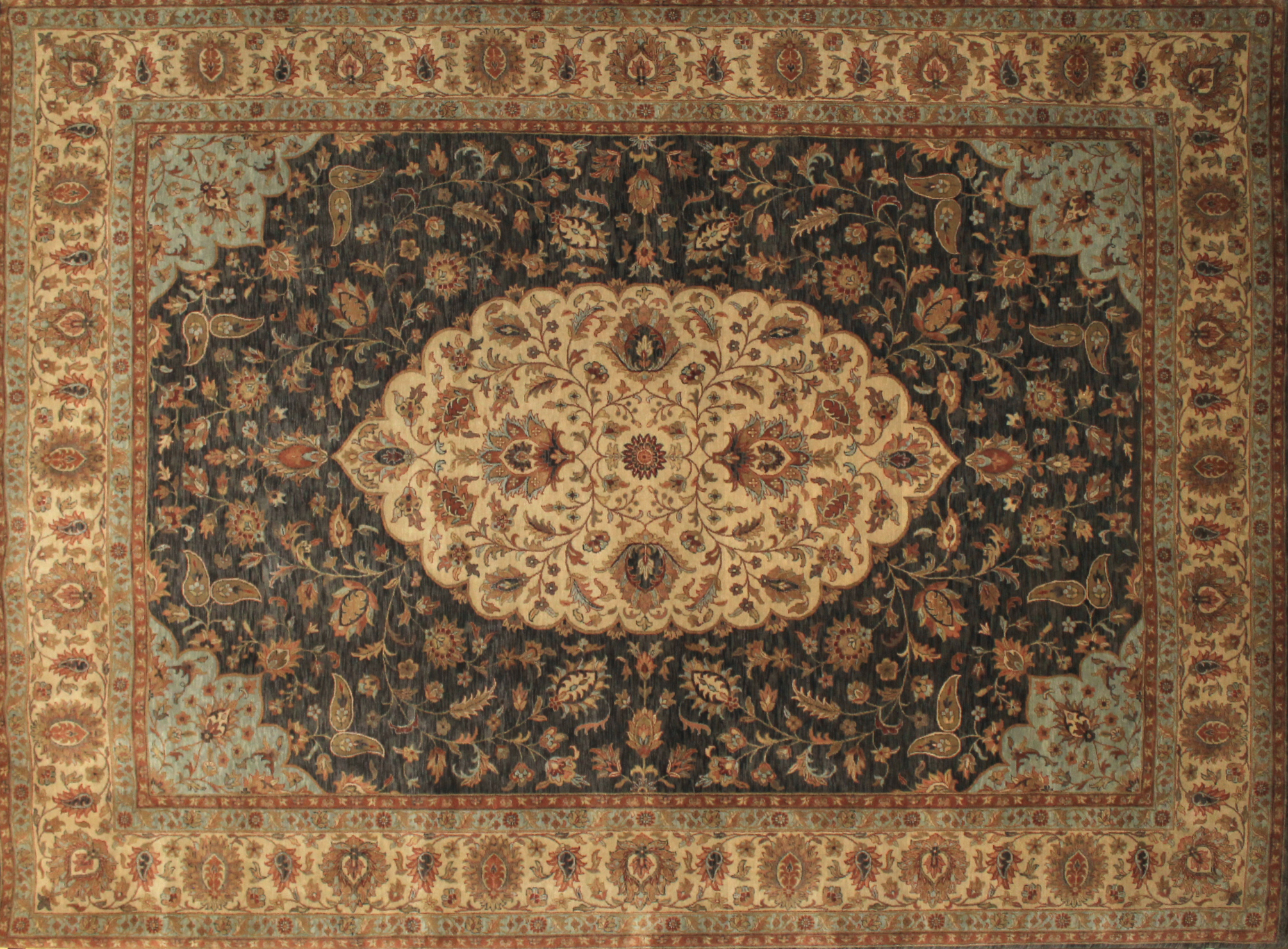 9x12 Traditional Hand Knotted Wool Area Rug - MR8455