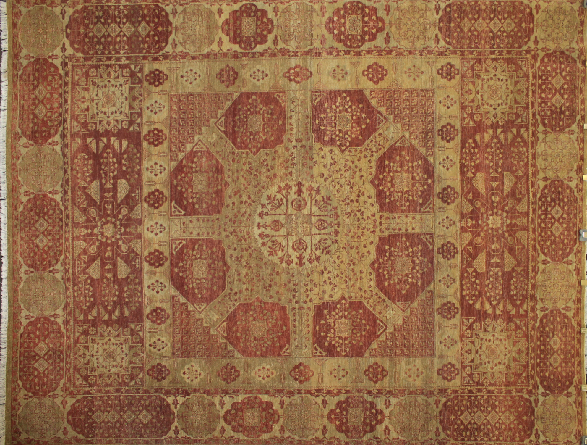 9x12 Antique Revival Hand Knotted Wool Area Rug - MR9034