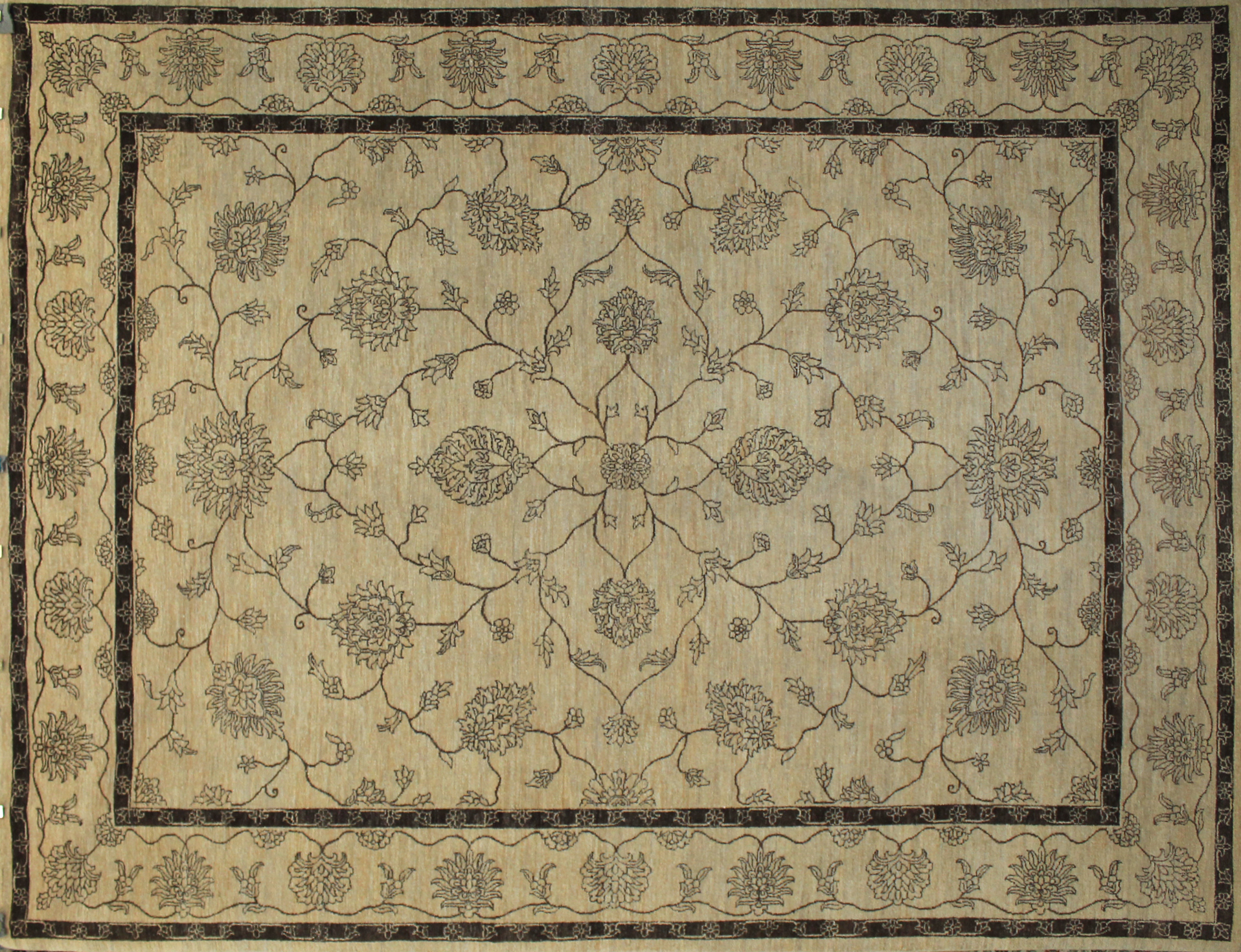 9x12 Contemporary Hand Knotted Wool Area Rug - MR9222
