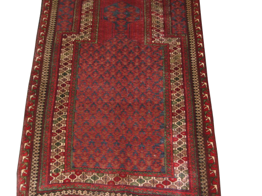3x5 Kazak Hand Knotted Wool Area Rug - MR9464