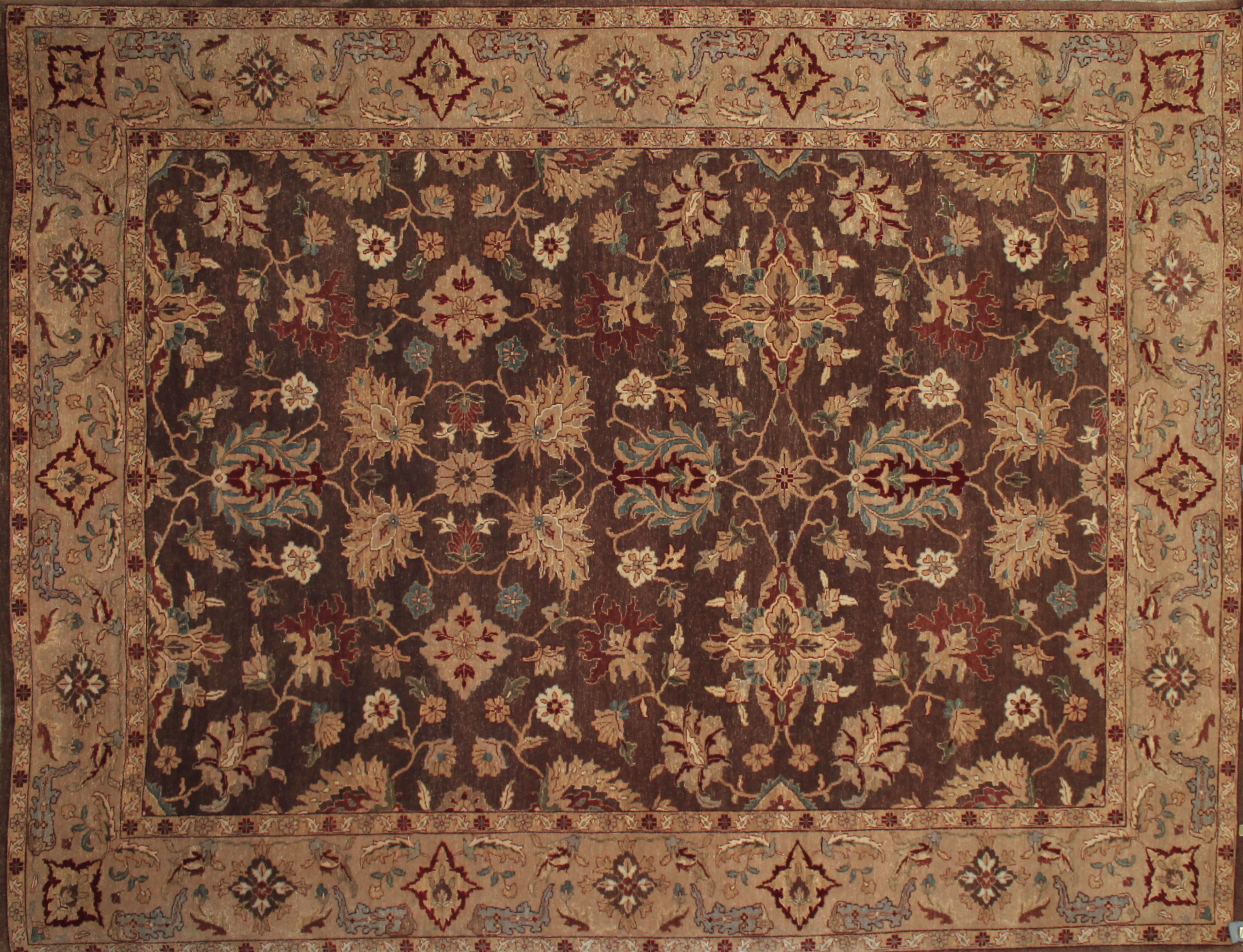 9x12 Traditional Hand Knotted Wool Area Rug - MR9609